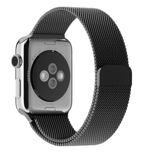 Black Milanese Loop Magnetic Stainless Steel Band - Apple Watch 42mm