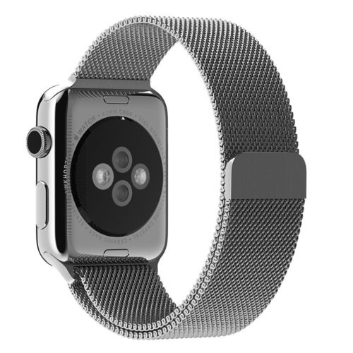Silver Milanese Loop Magnetic Stainless Steel Band - Apple Watch 42mm