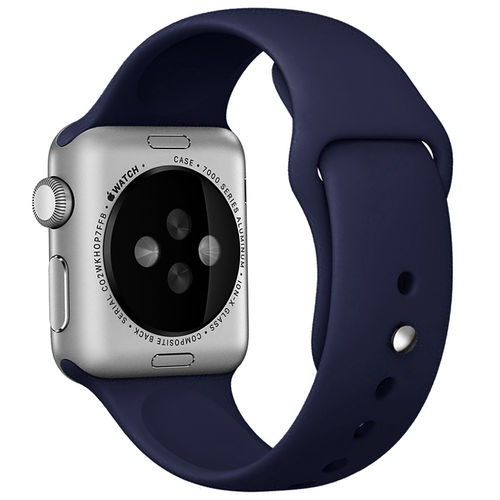 Rubber Sport Band with Pin & Tuck Closure for Apple Watch 42mm - Blue