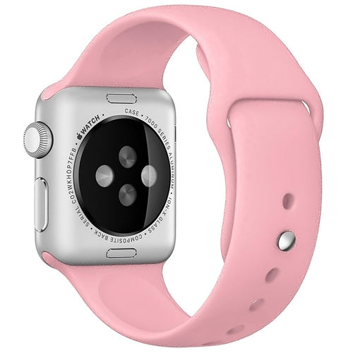 Rubber Sport Band with Pin & Tuck Closure for Apple Watch 42mm - Pink