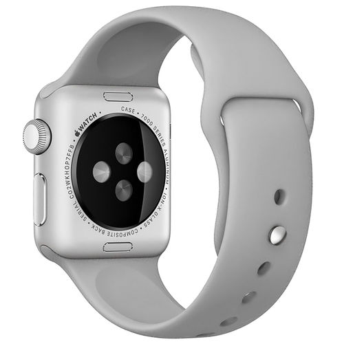 Rubber Sport Band with Pin & Tuck Closure for Apple Watch 42mm - Grey