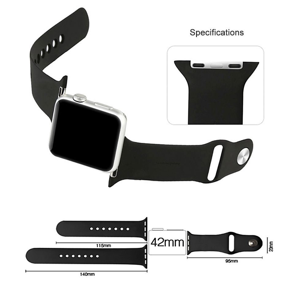 Grey Sport Band Pin & Tuck Closure - Apple Watch 42 / 44mm