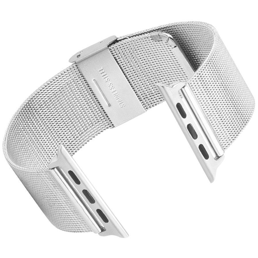 Milanese stainless steel mesh band apple watch mm
