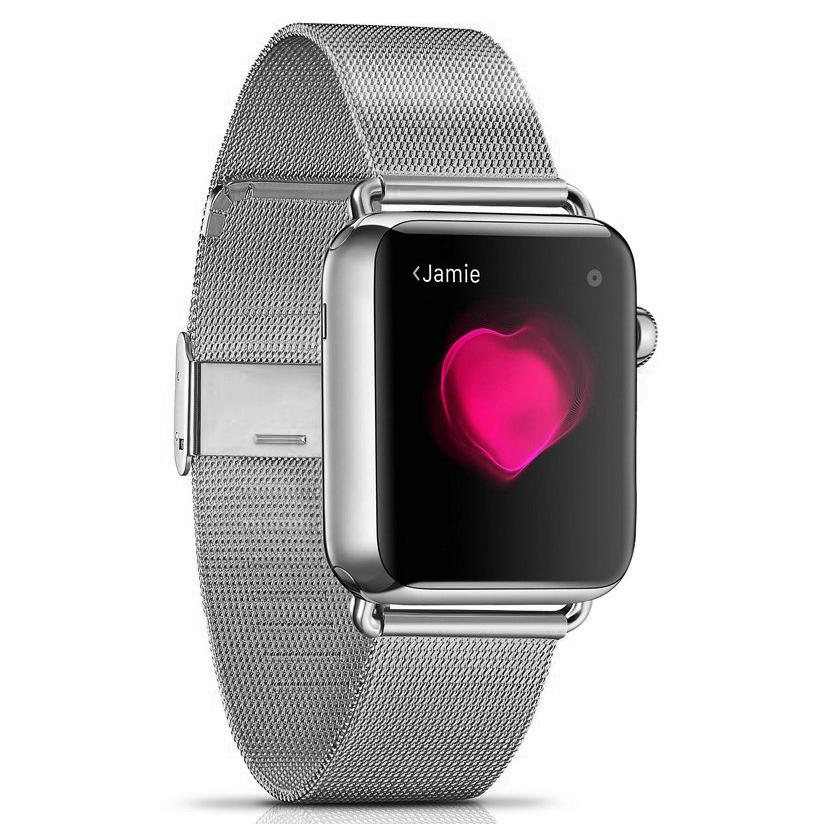 Milanese Stainless Steel Band - Apple Watch 42 / 44mm (Silver)