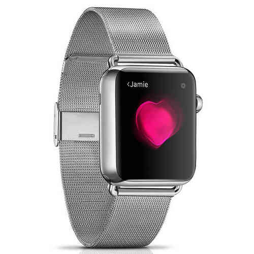 Milanese Stainless Steel Metal Band - Apple Watch 42 / 44mm - Silver
