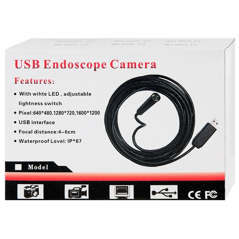 15m Waterproof USB Endoscope Inspection Camera Cable