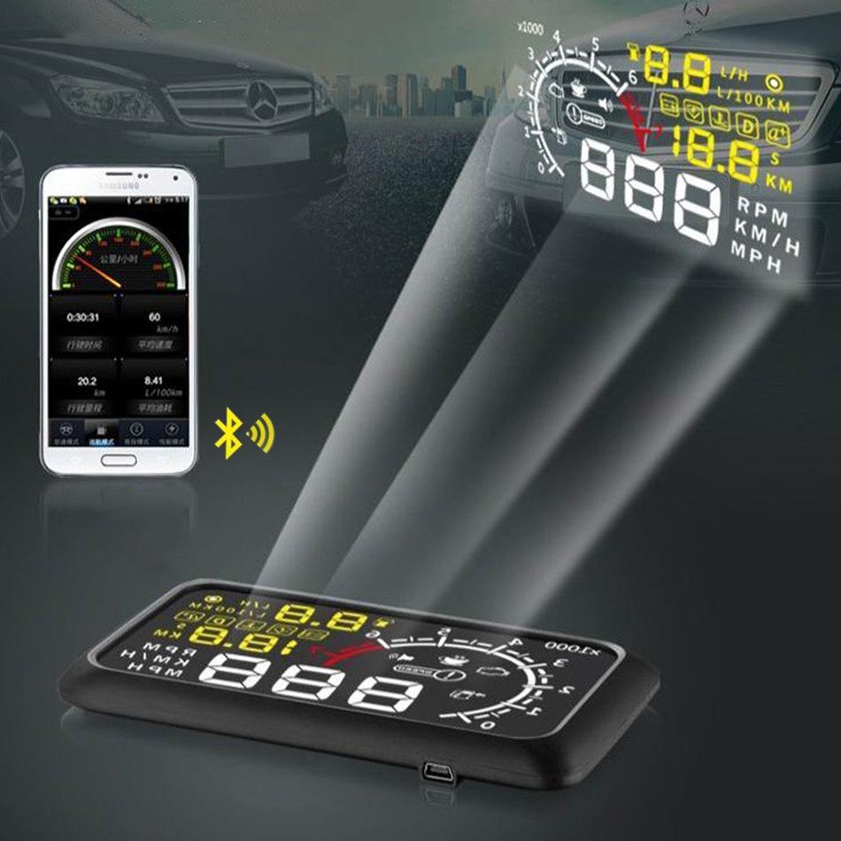 X3 Bluetooth OBD II 2 Car HUD Windshield Interface
