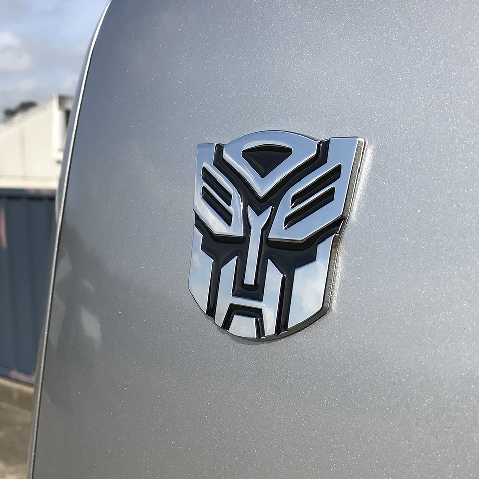 Transformers Autobots Logo Car Chrome Badge Silver