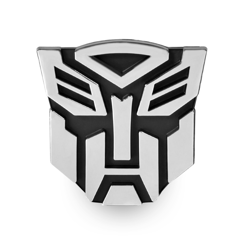 Transformers autobots logo car vehicle chrome badge silver