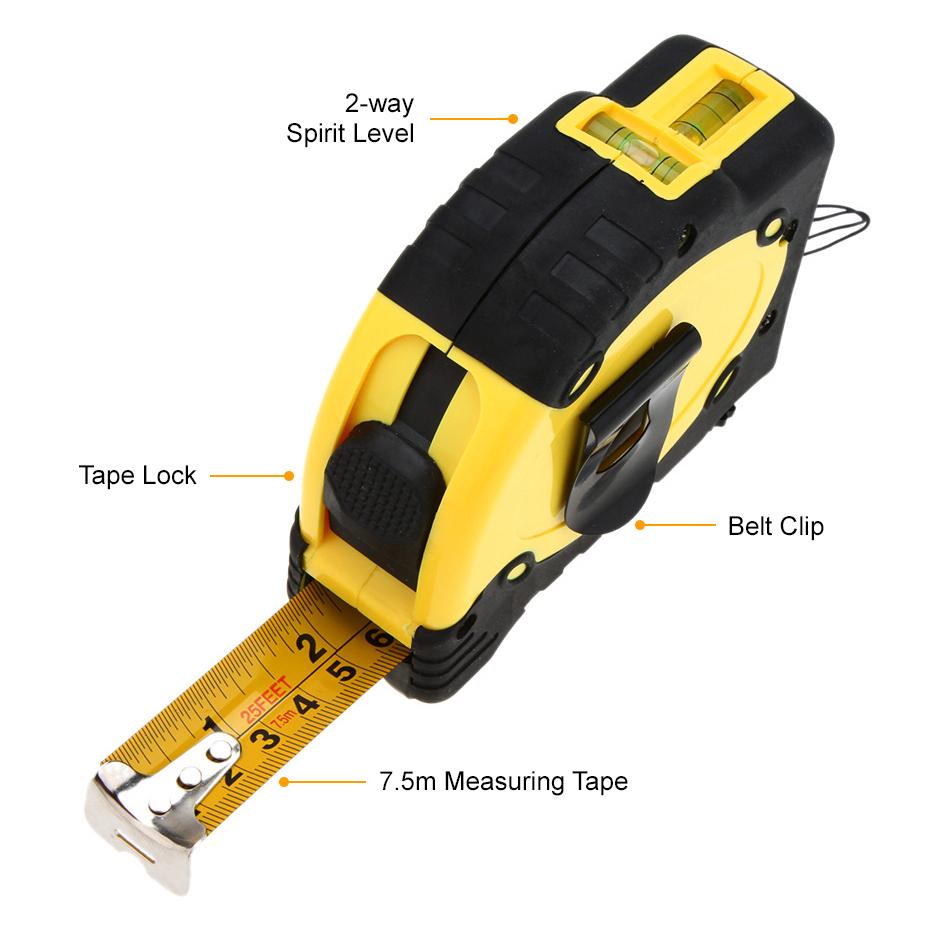 laser level aligner tape measure spirit level handy tool. Black Bedroom Furniture Sets. Home Design Ideas