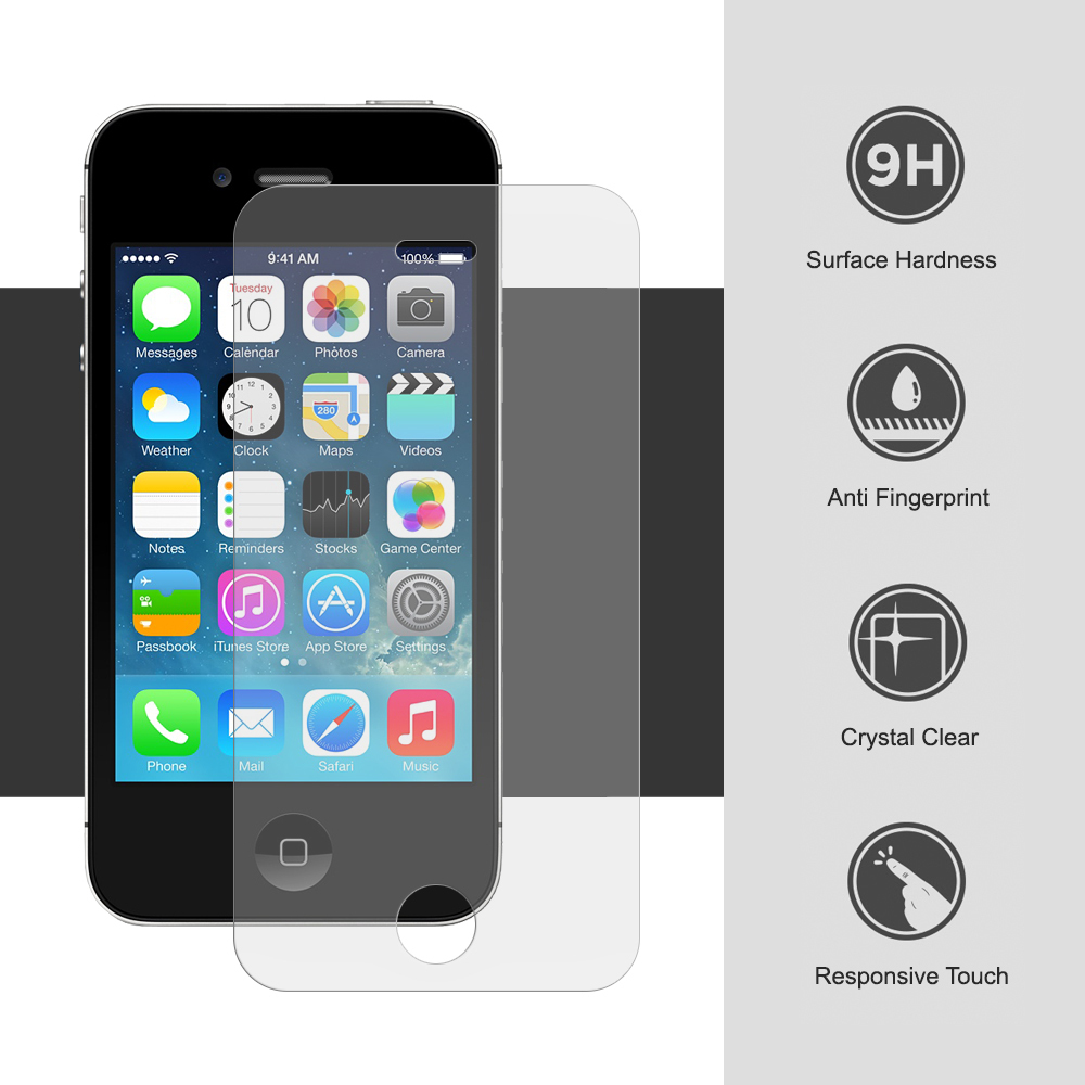iphone 4 screen protector 9h tempered glass screen protector apple iphone 4s clear 14400