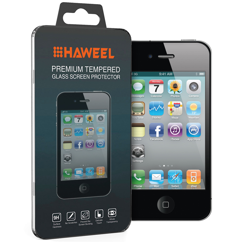 9H Tempered Glass Screen Protector for Apple iPhone 4   4s - Clear ... eec9fc9c31