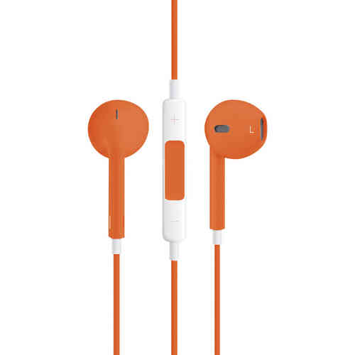 Stereo EarPods with Remote & Microphone (Headphones) - Orange