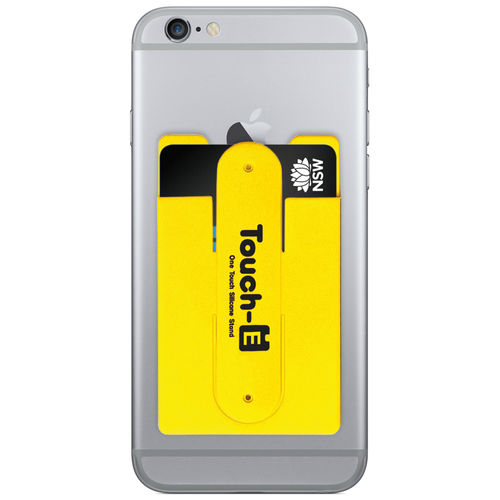 Opal Card Transport Ticket Pouch Holder & Stand for Phones - Yellow