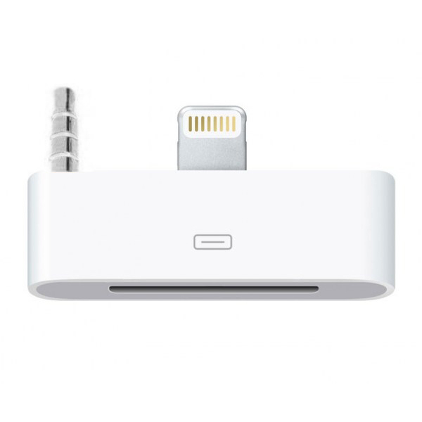 lightning to 30 pin audio adapter iphone 5s se 5c. Black Bedroom Furniture Sets. Home Design Ideas