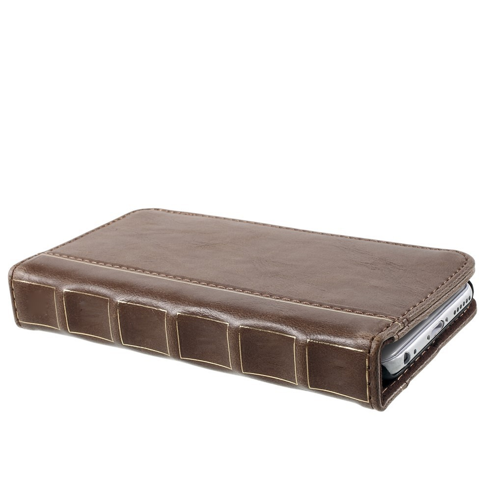 Old Book Leather Case : Antique book leather wallet case apple iphone s brown