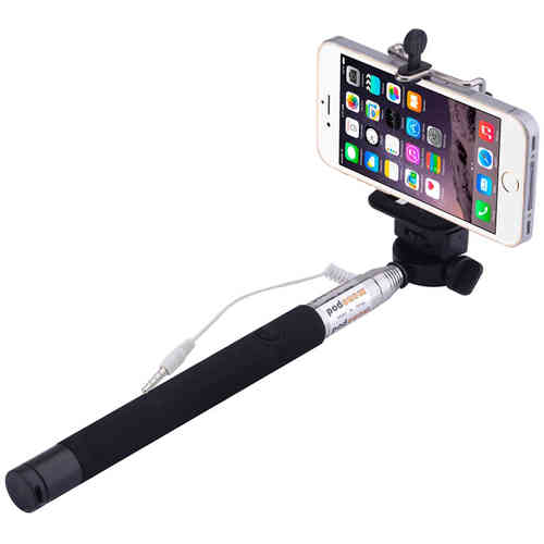 1m Wired Extendable Selfie Stick & Monopod Holder (Headphone Jack)