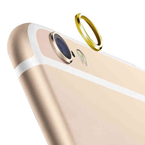 (2-Pack) Camera Lens Protective Ring Cover - Apple iPhone 6s - Gold
