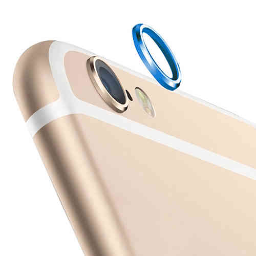 (2-Pack) Camera Lens Protective Ring Cover - Apple iPhone 6s - Blue
