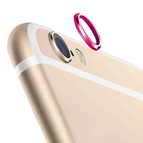 (2-Pack) Camera Lens Protective Ring Cover - Apple iPhone 6s - Pink