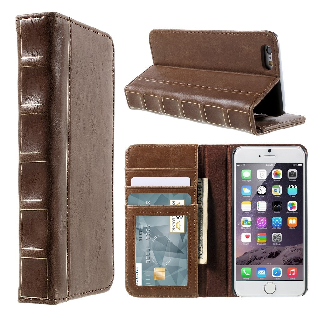 Vintage Book Leather Wallet Case - Apple iPhone 6s Plus