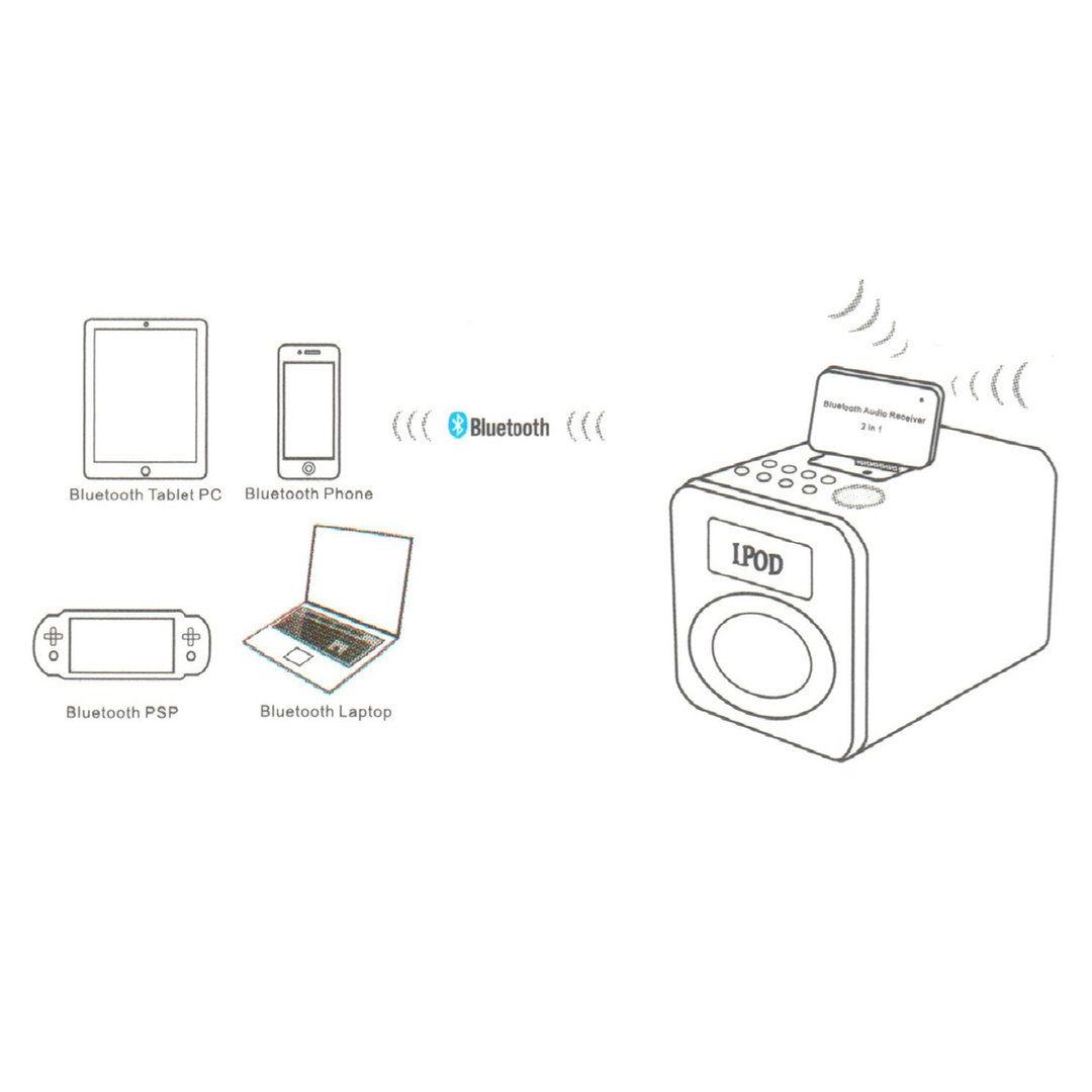 30-pin bluetooth audio receiver adapter   ipad    ipod