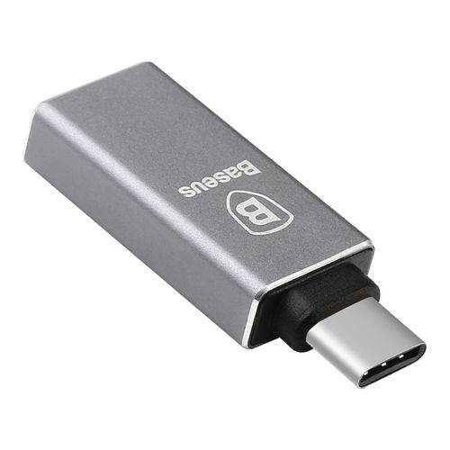 Baseus Sharp USB Type-C (Male) to USB-A 3.0 (Female) Adapter - Silver