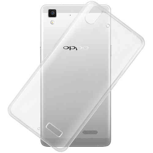 Flexi Gel Crystal Case for Oppo R7 - Clear / Transparent (Gloss Grip)