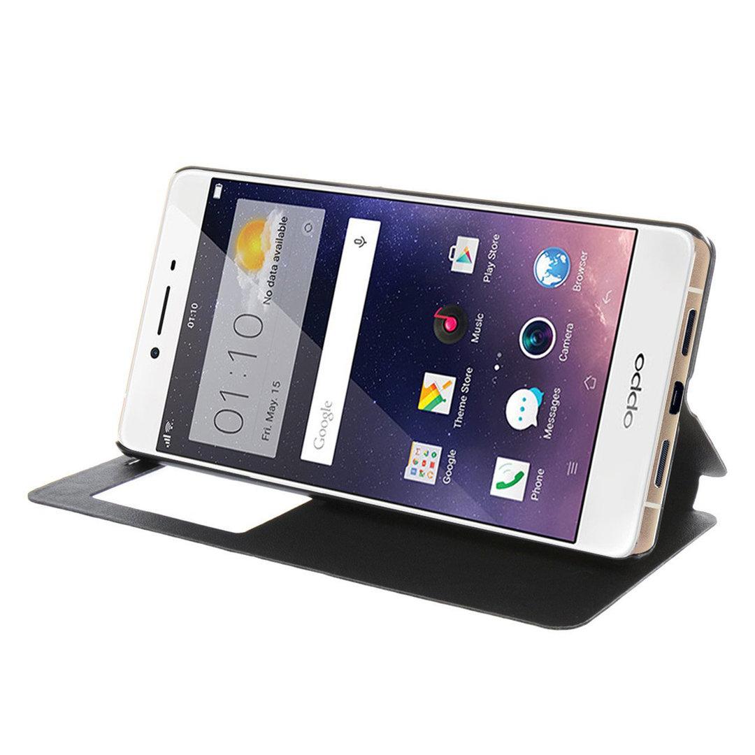 online store ecf65 e22bf Window Display Leather Flip Case - Oppo R7s / R7sf (Black)