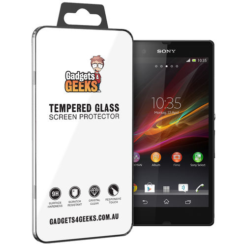 Haweel 9H Tempered Glass Screen Protector for Sony Xperia Z - Clear