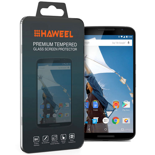 Haweel 9H Tempered Glass Screen Protector for Google Nexus 6