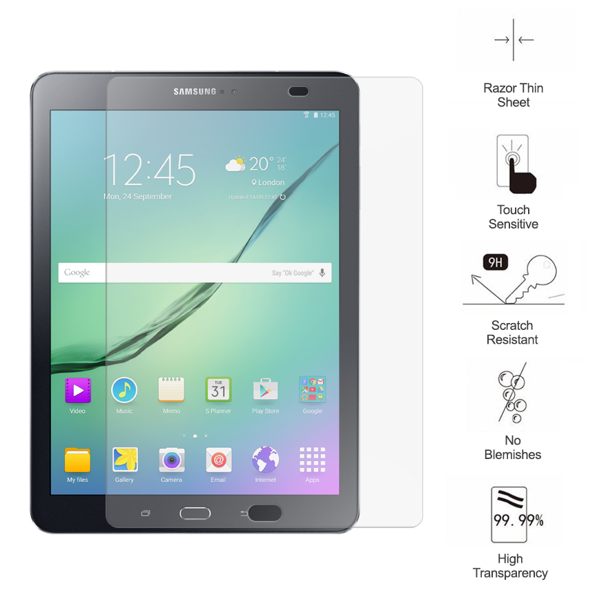 tempered glass screen protector samsung galaxy tab s2 9 7. Black Bedroom Furniture Sets. Home Design Ideas