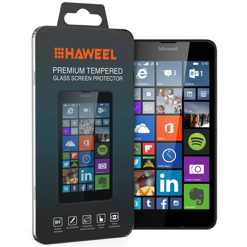 Haweel 9H Tempered Glass Screen Protector for Microsoft Lumia 640
