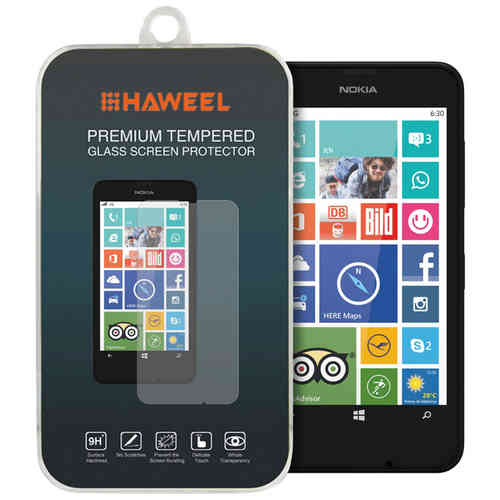 Haweel 9H Tempered Glass Screen Protector for Nokia Lumia 630 / 635