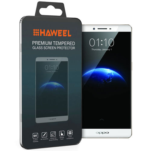 Haweel 9H Tempered Glass Screen Protector for Oppo R7 Plus - Clear