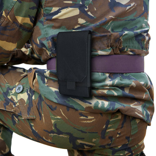 Nylon XL Military Outdoor Case + Belt Loop Phone Pouch Holder - Black