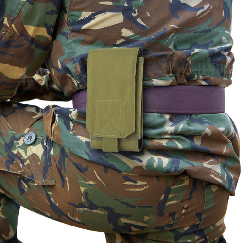 Nylon XL Military Outdoor Case + Belt Loop Phone Pouch Holder - Khaki