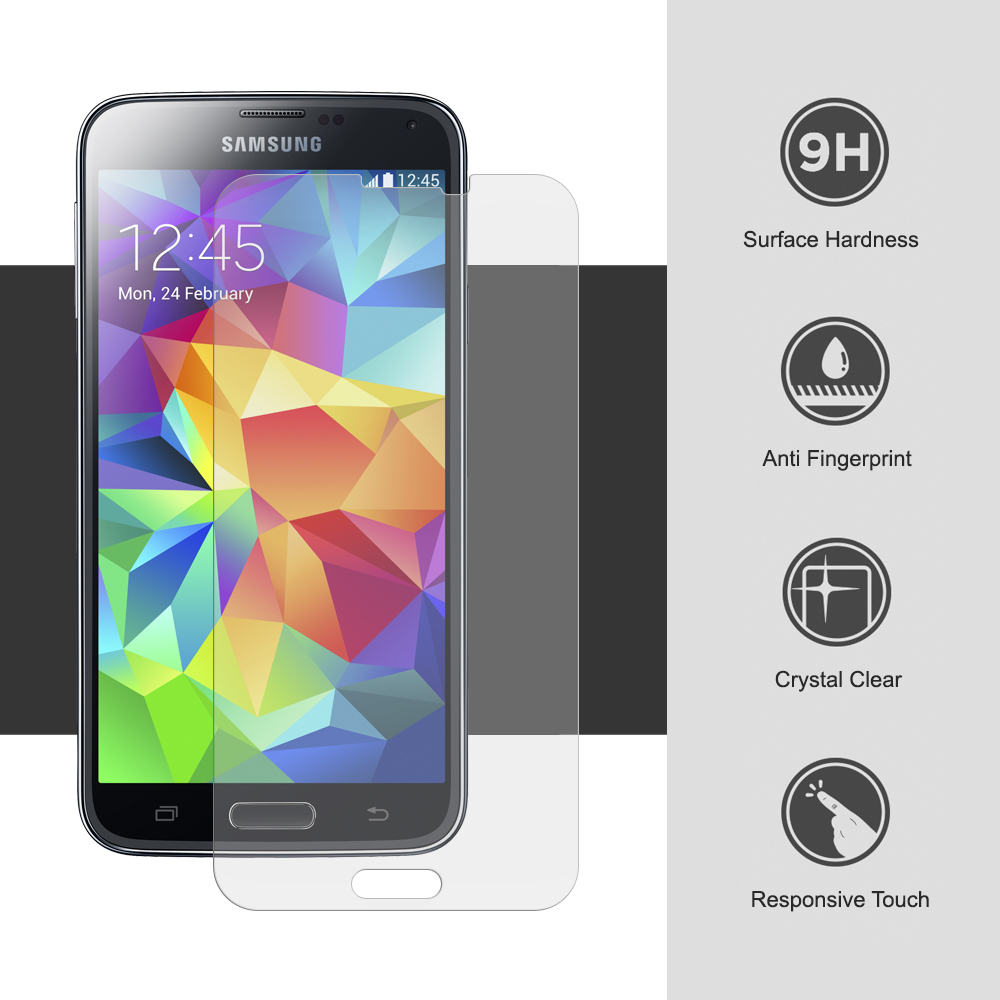 9H Tempered Glass Screen Protector - Samsung Galaxy S5