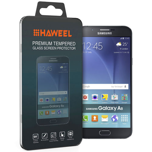 Haweel 9H Tempered Glass Screen Protector for Samsung Galaxy A8 (2015)