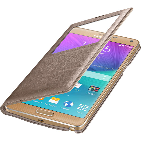 finest selection 7073f 222da Display Window Leather Case - Samsung Galaxy Note 4 (Gold)