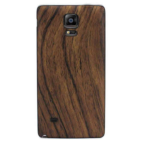 Replacement Back Textured Cover for Samsung Galaxy Note 4 - Wood Brown