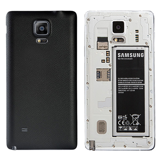 best sneakers 708c1 6ce84 Replacement Back Cover for Samsung Galaxy Note 4 - Lychee Black