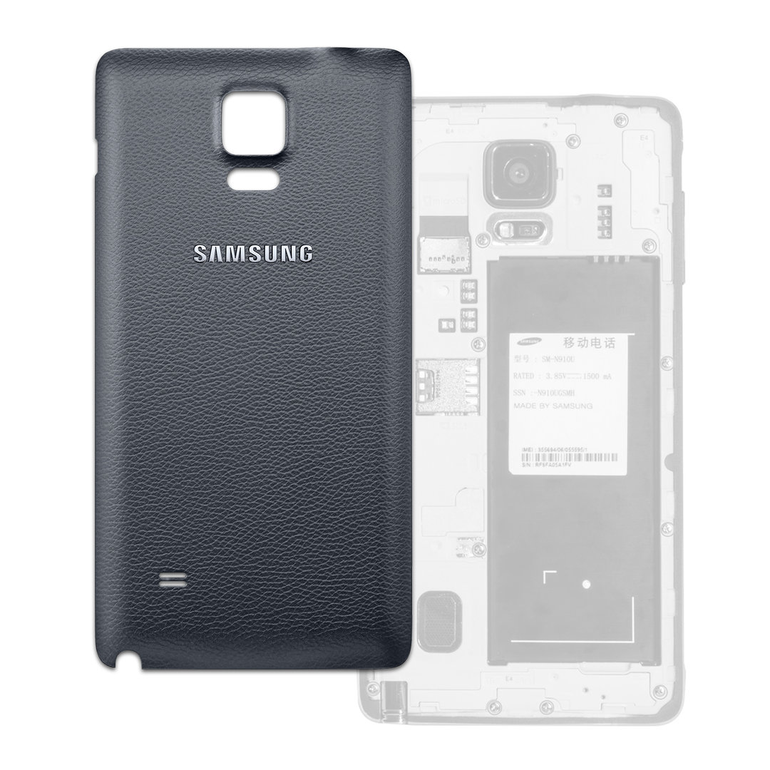 Back Cover Replacement Samsung Galaxy Note 4 Charcoal Black