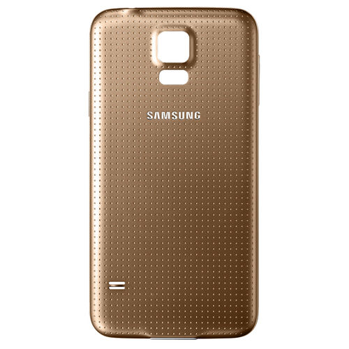 Replacement Water Resistant Back Cover for Samsung Galaxy S5 - Gold