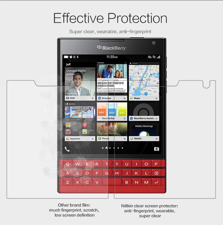 Nillkin Clear Film Screen Protector - BlackBerry Passport