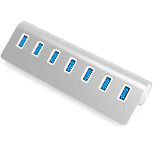 Aluminium (7-Port) USB 3.0 High Speed Data Transfer Portable Hub