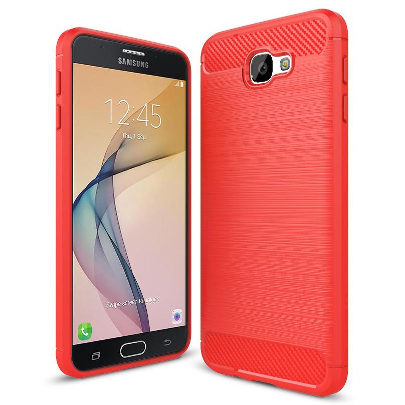 huge discount 5b724 09470 Flexi Slim Carbon Fibre Tough Case for Samsung Galaxy J7 Prime - Red