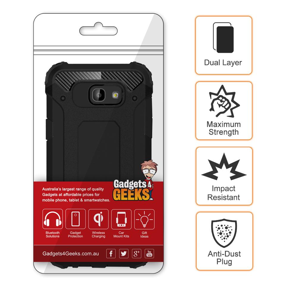 hot sale online 47926 b7d80 Defender Shockproof Case - Samsung Galaxy A5 (2017) - Black