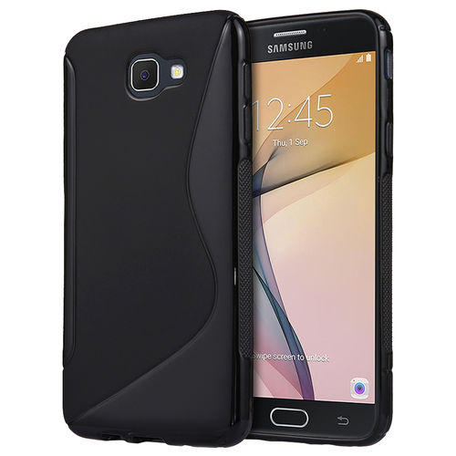 S-Line Flexi Case for Samsung Galaxy J7 Prime - Black (Two-Tone)