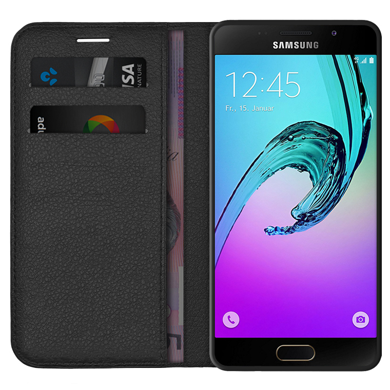 outlet store 1187b 8d281 Leather Wallet Case - Samsung Galaxy A5 (2016) - Black